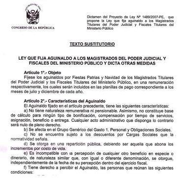 Proyecto de Ley aprobado por elCongreso